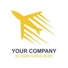 Travel Vacation Airplane Icon Vector Logo