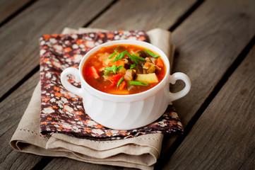 Russian Style Soup Rassolnik