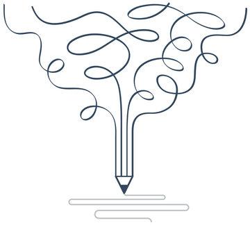Graphic design studio symbol. Creative writing. Storytelling.