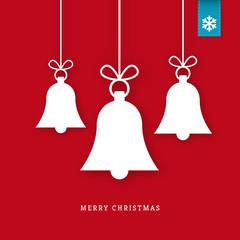 White paper christmas bells