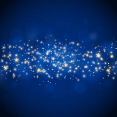 Christmas glittering stars
