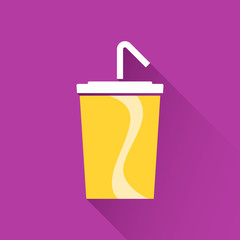 Soft drink in paper cup