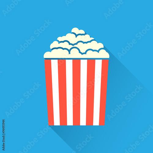 """Flat popcorn icon"" Imagens e vetores de stock Royalty ..."