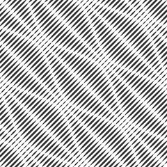 Vector seamless template. Modern geometric background. Embossed wavy lines arranged diagonally.