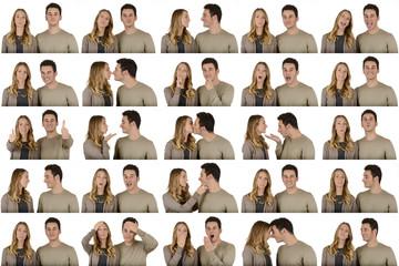 Happy couple composition