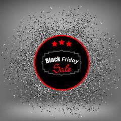 Black Friday Sticker and Confetti