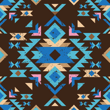 colorful tribal seamless pattern