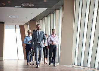 business people group walking
