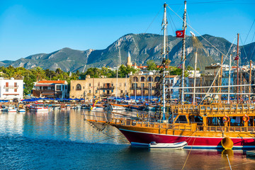 Deurstickers Cyprus View of Kyrenia harbour. Cyprus