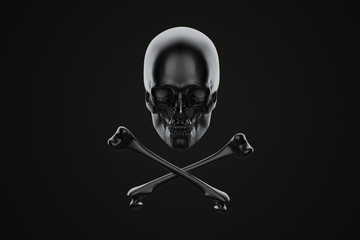 Jolly Roger, skull and crossbones. Contains clipping path