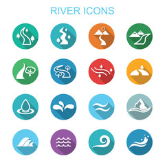 river long shadow icons