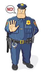 Policeman says NO