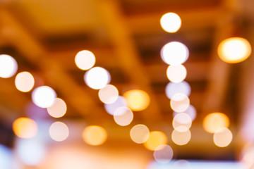 Blurred light bokeh