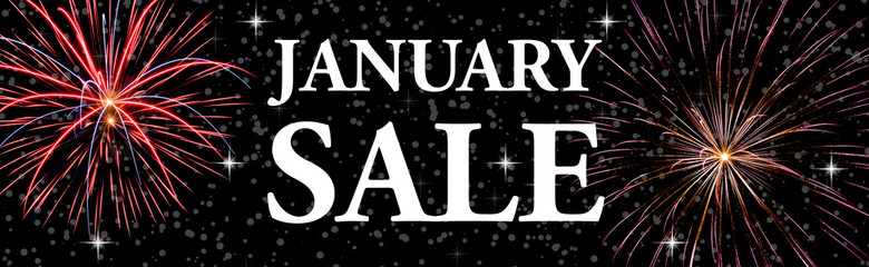 january sale web banner