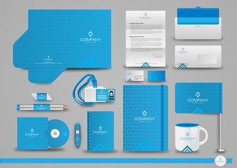 Set of corporate identity templates, business style