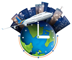 Plane travel around the world