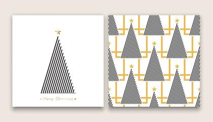 christmas tree in line art 01