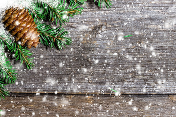 Christmas background with bumps  and snowflakes