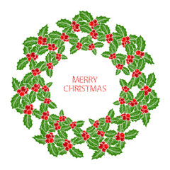 winter holidays wreath