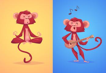 Illustraiton of comical monkey series