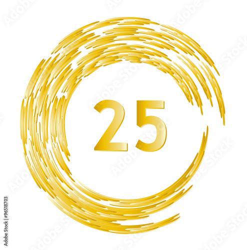 Ehrentag geburtstag jahrestag jubil um 25 jahre mit goldenem kranz stockfotos und - 25 geburtstag bilder ...