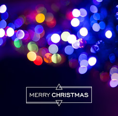 Merry christmas blur bokeh light background