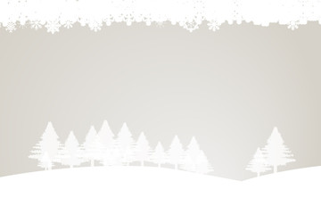 Winter trees on light background