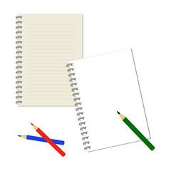 ノートと鉛筆 / vector eps 10
