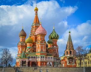 Saint Basil's Cathedral at Red Square in Moscow