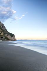 Sunset over the Ligurian Sea. Color image