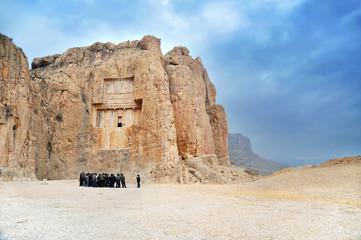 Tombs carved in rock in Persepolis