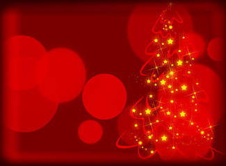 Red winter background. Christmas background. New year background