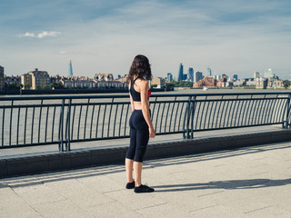 Fit young woman in the city