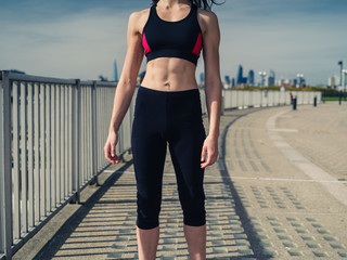 Athletic young woman in the city
