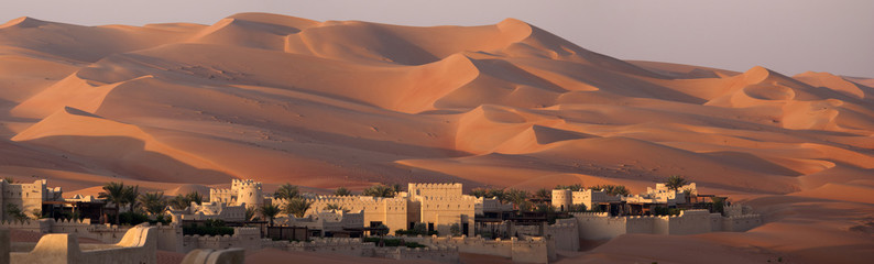 Blockhouse in a dune's desert