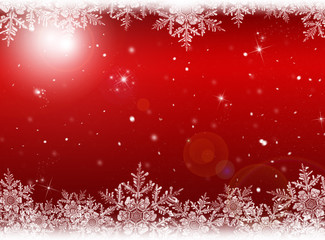 Christmas background. New Year background. Red winter holiday