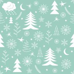 Seamless Christmas pattern green