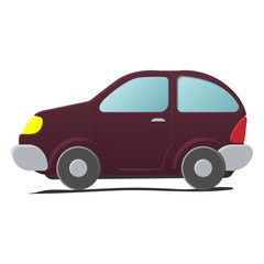 Cartoon little car
