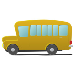 Yellow school bus cartoon