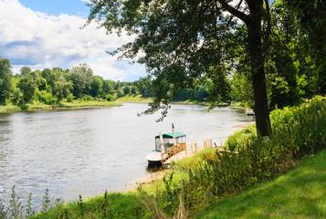 View of the River Neman. Druskininkai, Lithuania