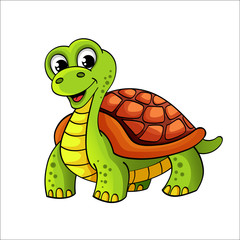Funny cartoon turtle