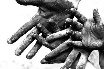 Hands of poorness