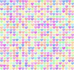 Seamless pattern of hearts. Little hearts are a nice gentle colors. Can be used for gift wrapping paper, the background of Valentine's day, birthday, mother's day and so on.