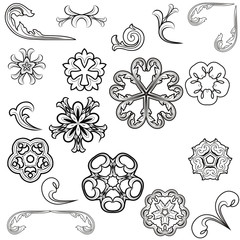vector beautiful floral ornament elements