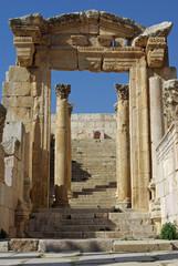 Jordanie, temple romain sur le site de Jerash