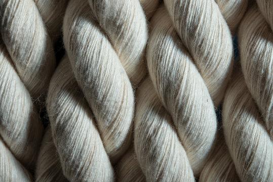 Ropes white closeup