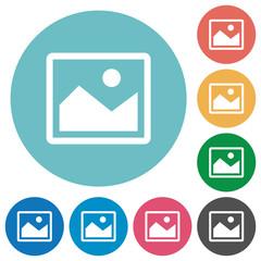 Flat image icons