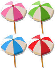 Umbrella in four colors