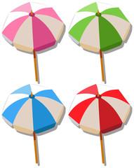 Umbrella in four colors