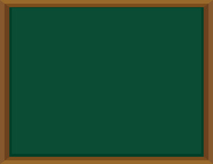 Green board with wooden frame